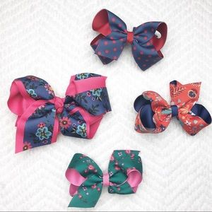 Matilda Jane Girls Hair Bows set of 4